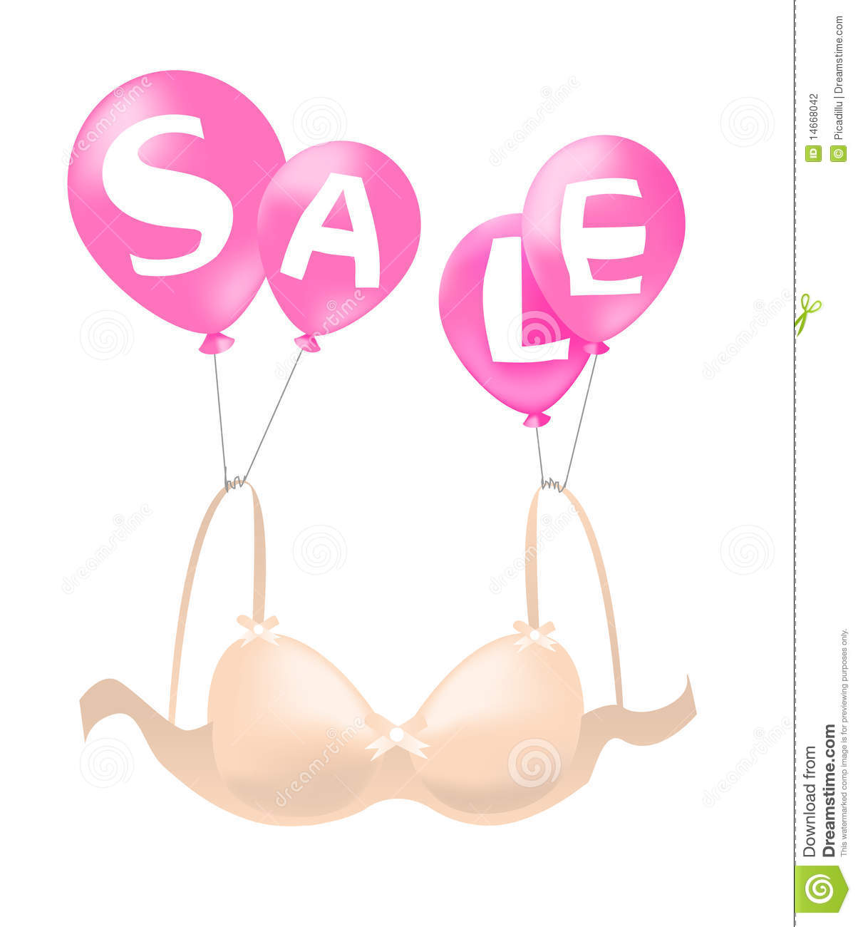 f7118fe1f7b3b Bra on sales stock illustration. Illustration of glossy - 14668042