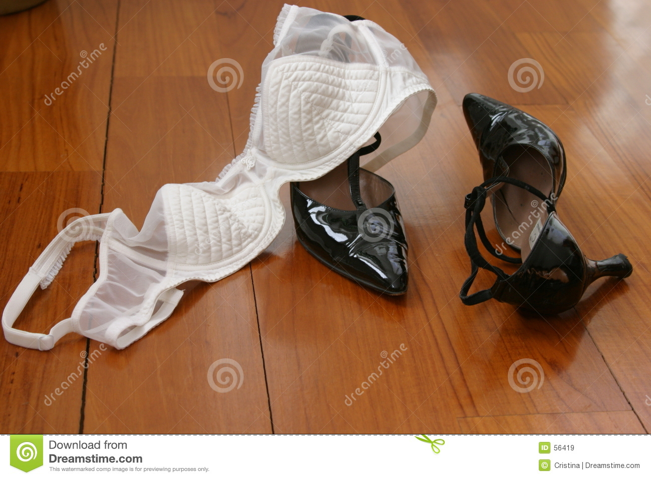 Bra and shoes