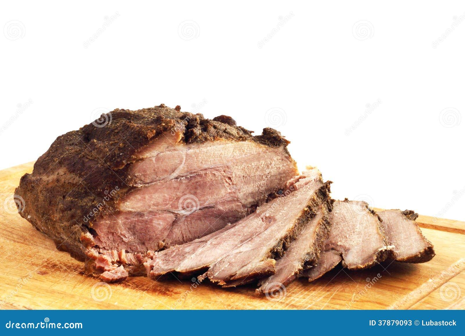 Braadstukvarkensvlees op een houten raad