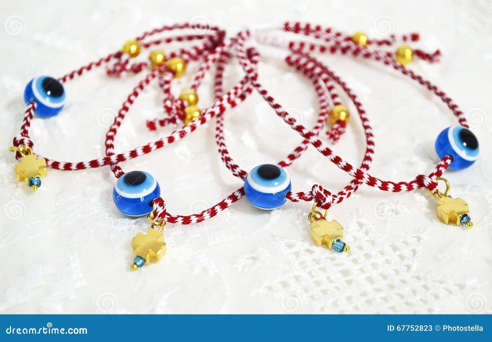 più amato 18510 77035 Braccialetti Greci Tradizionali Del Marzo Nei Colori Rossi E ...