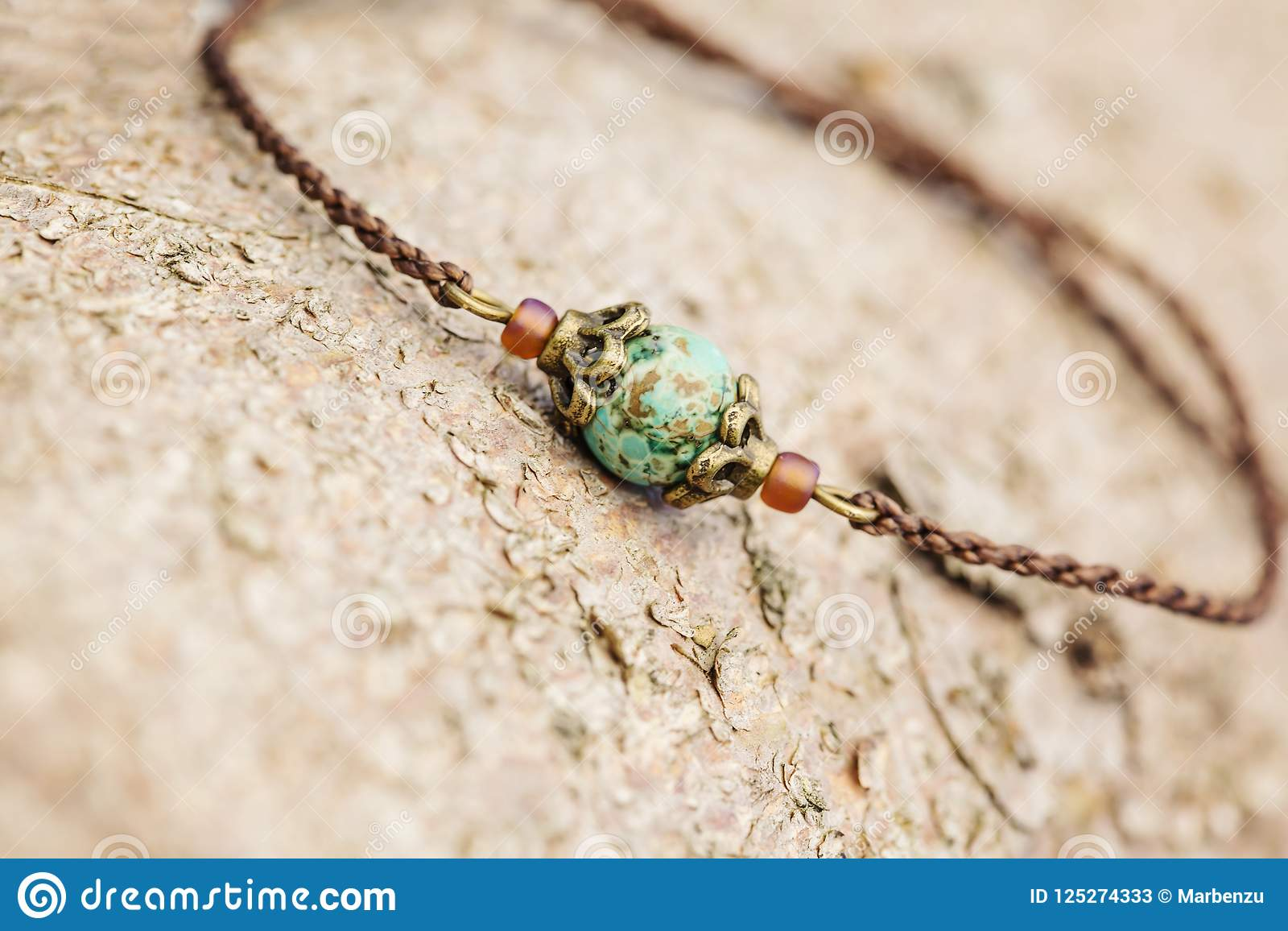 Braccialetto di pietra naturale della perla