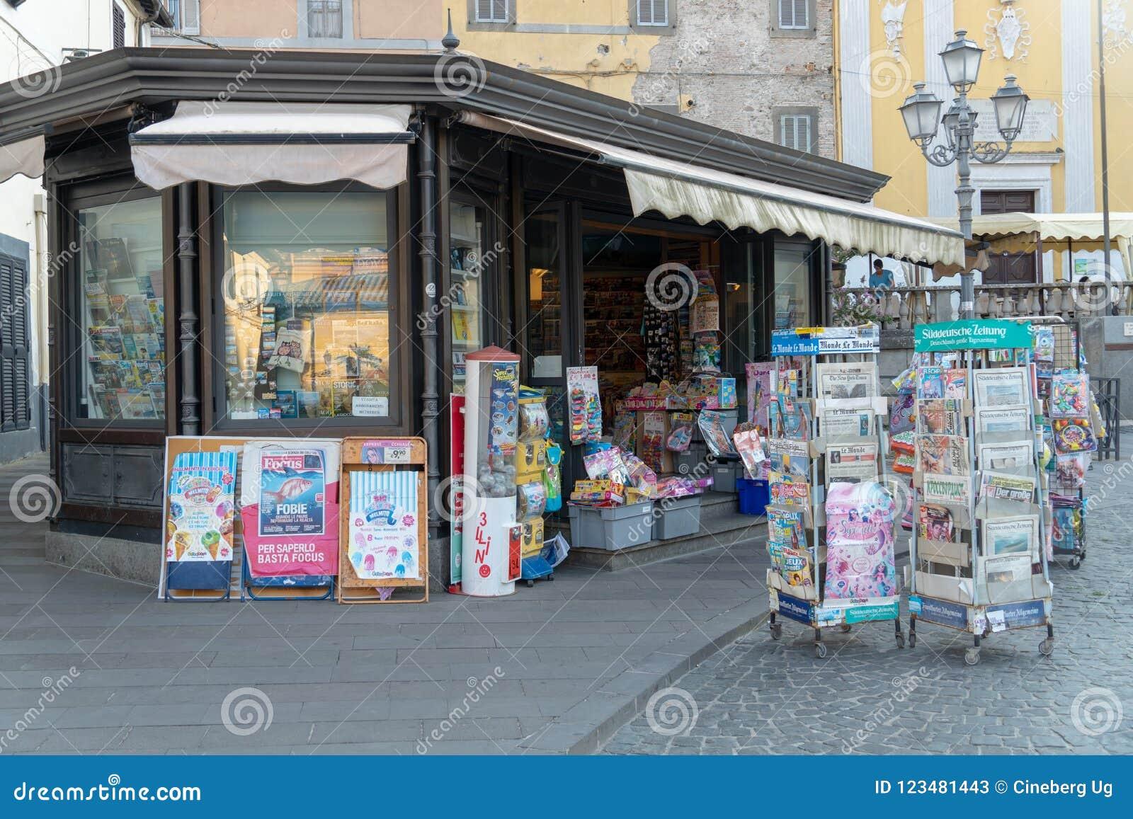 Newsagent`s shop