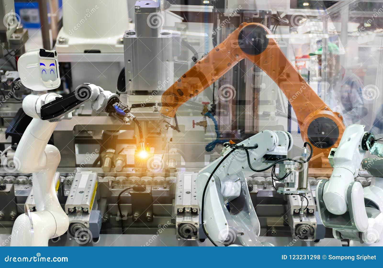 Braccio meccanico del robot industriale di fabbricazione delle componenti elettroniche