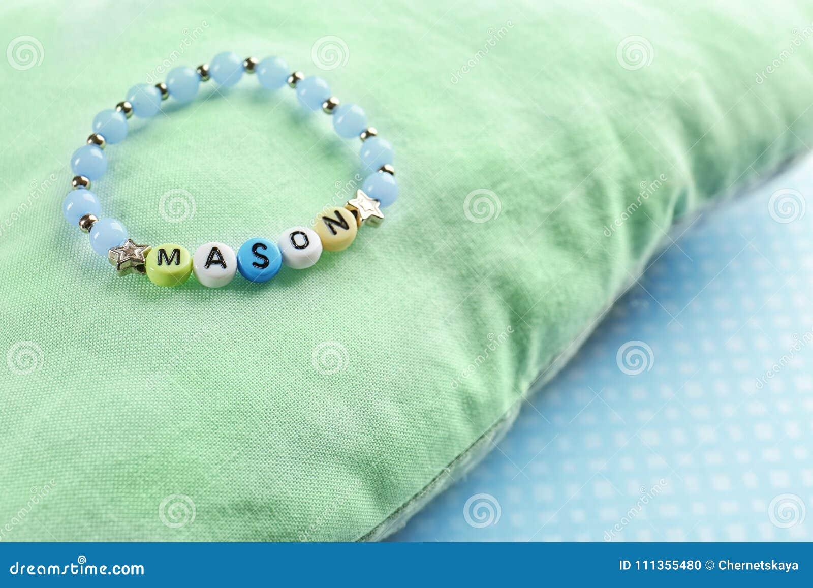 Bracelet with baby name MASON