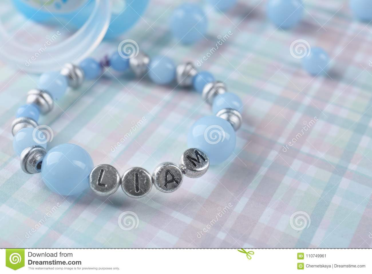 Bracelet with baby name