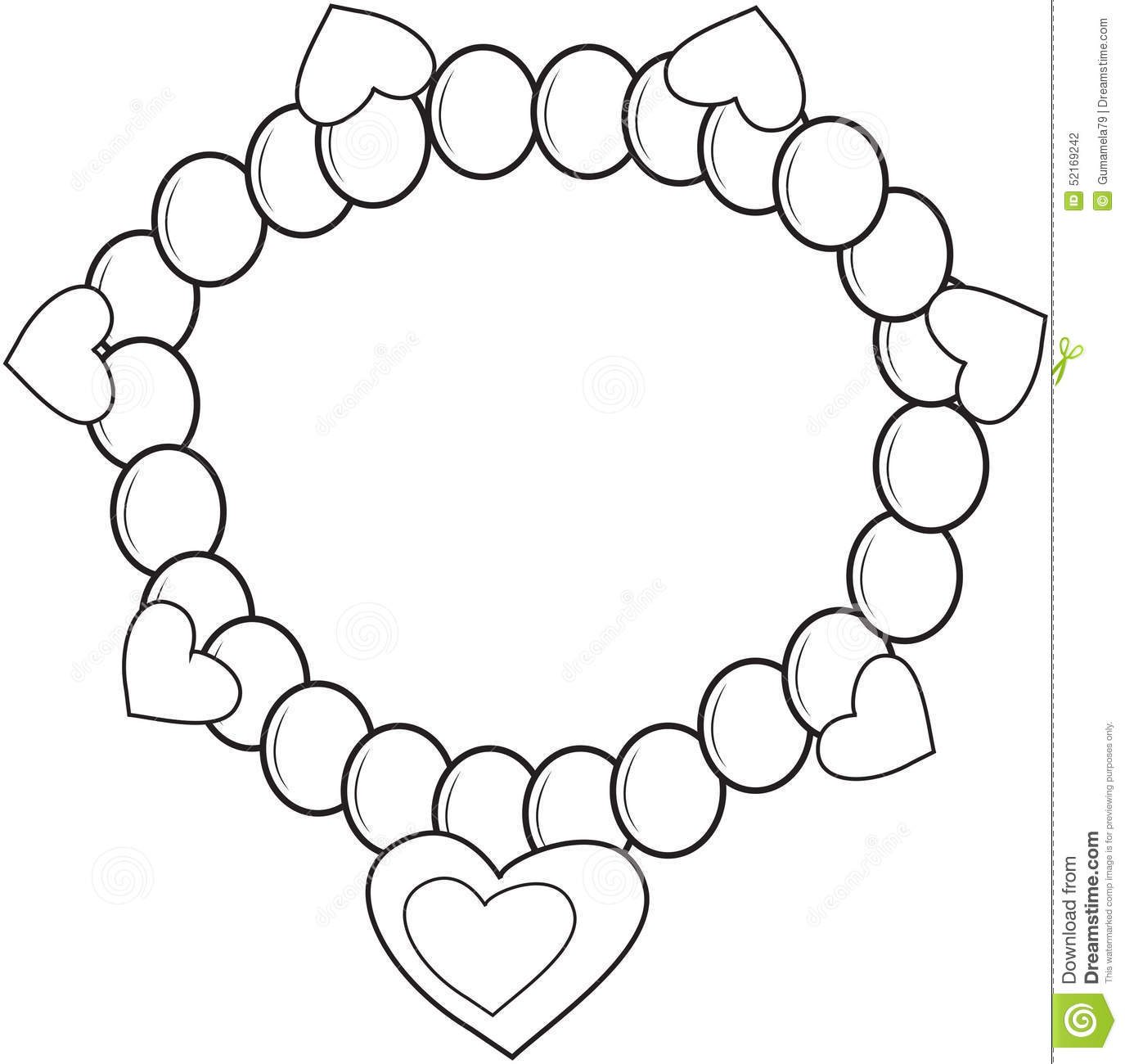 bracelet coloring page stock illustration image 52169242