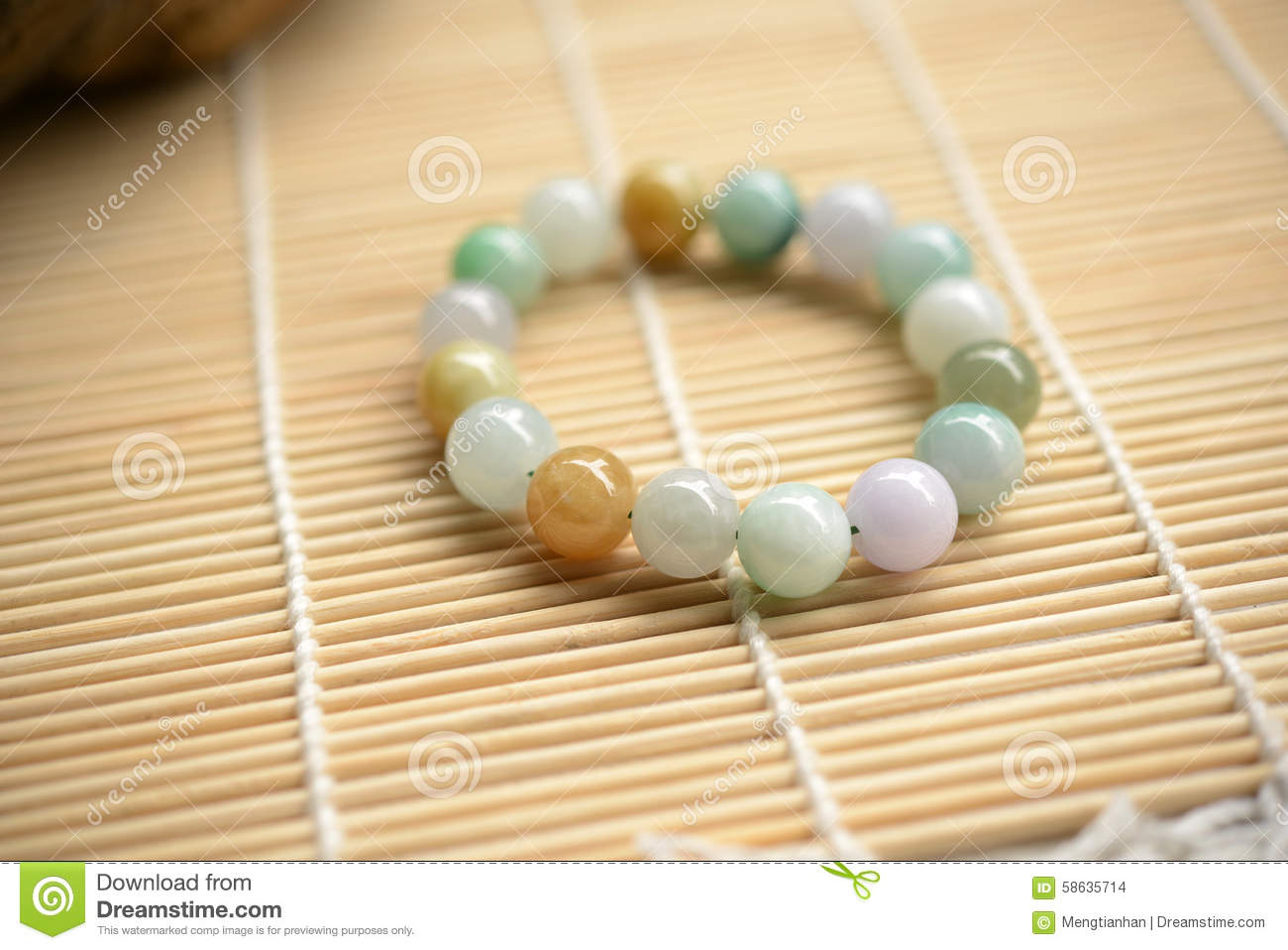 dff678a8598cf Bracelet of jade beads stock photo. Image of life, fortune - 58635714