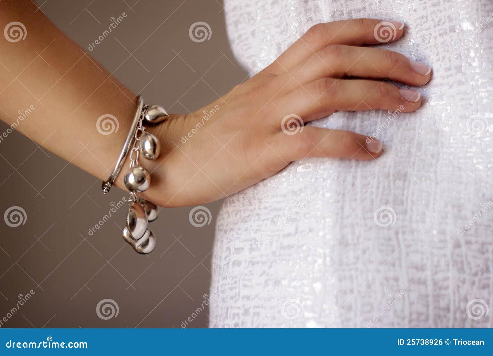 Bracelet jewelry on woman s arm