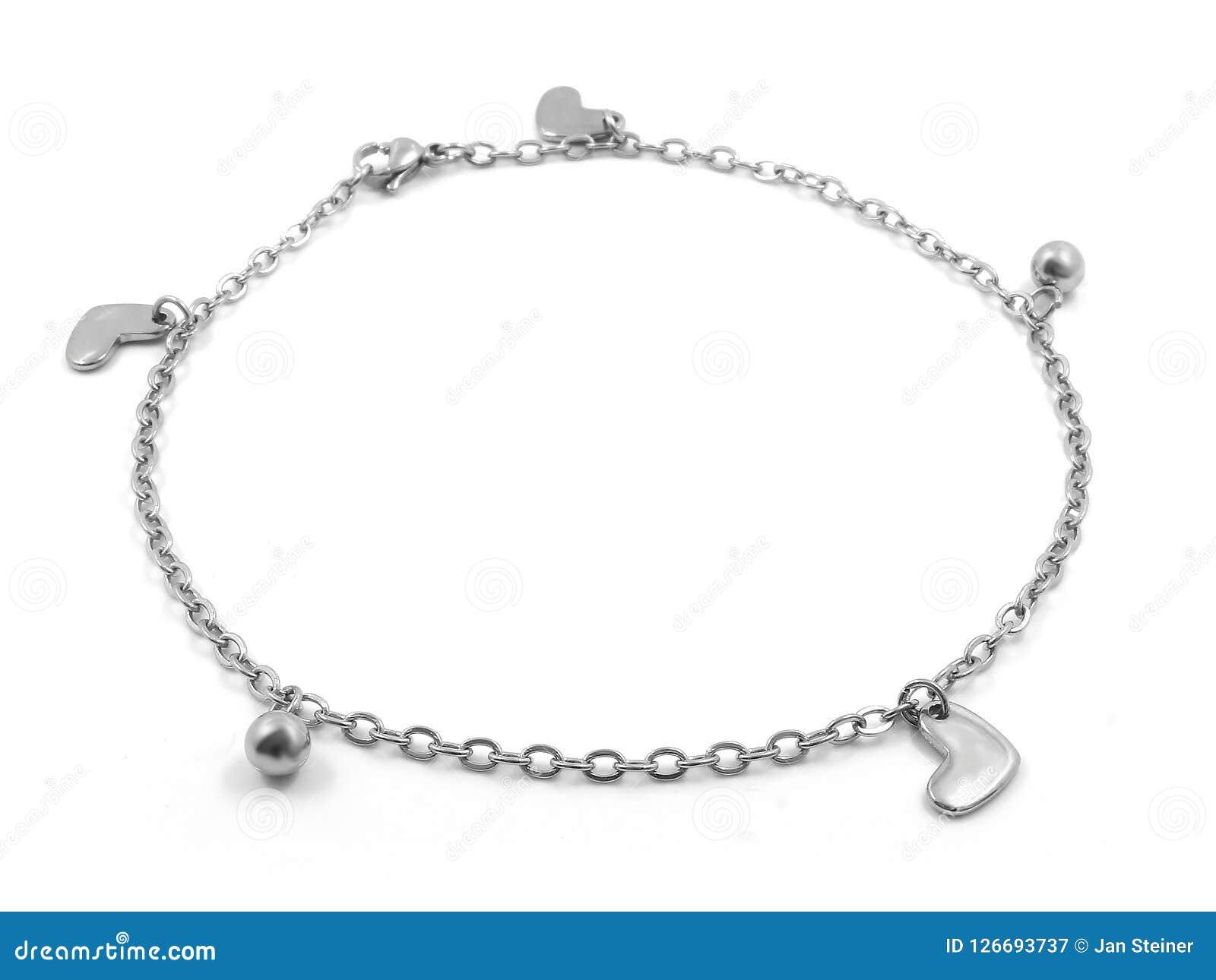 Bracelete de tornozelo bangle Aço inoxidável