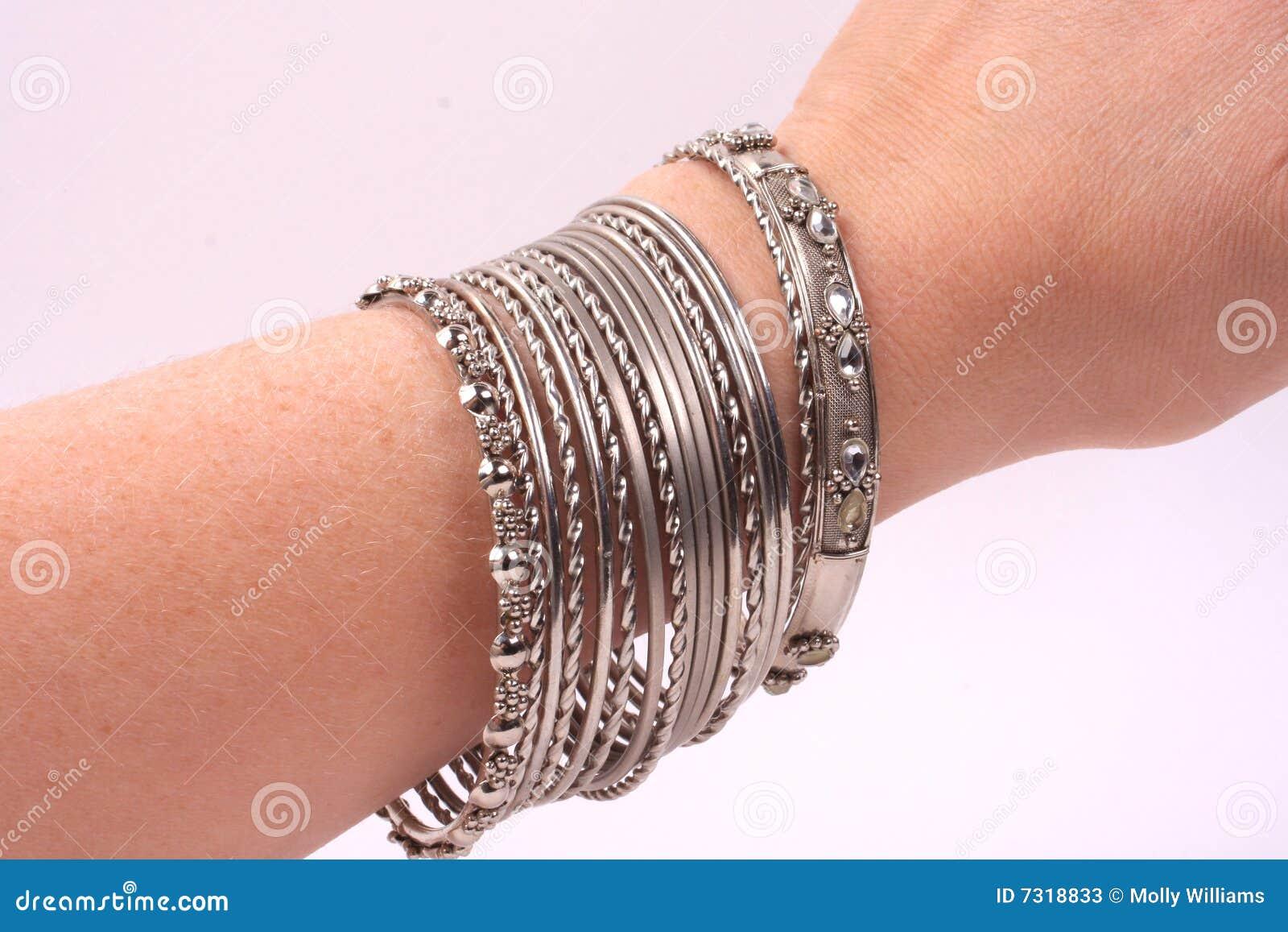 Bracelets on a hand