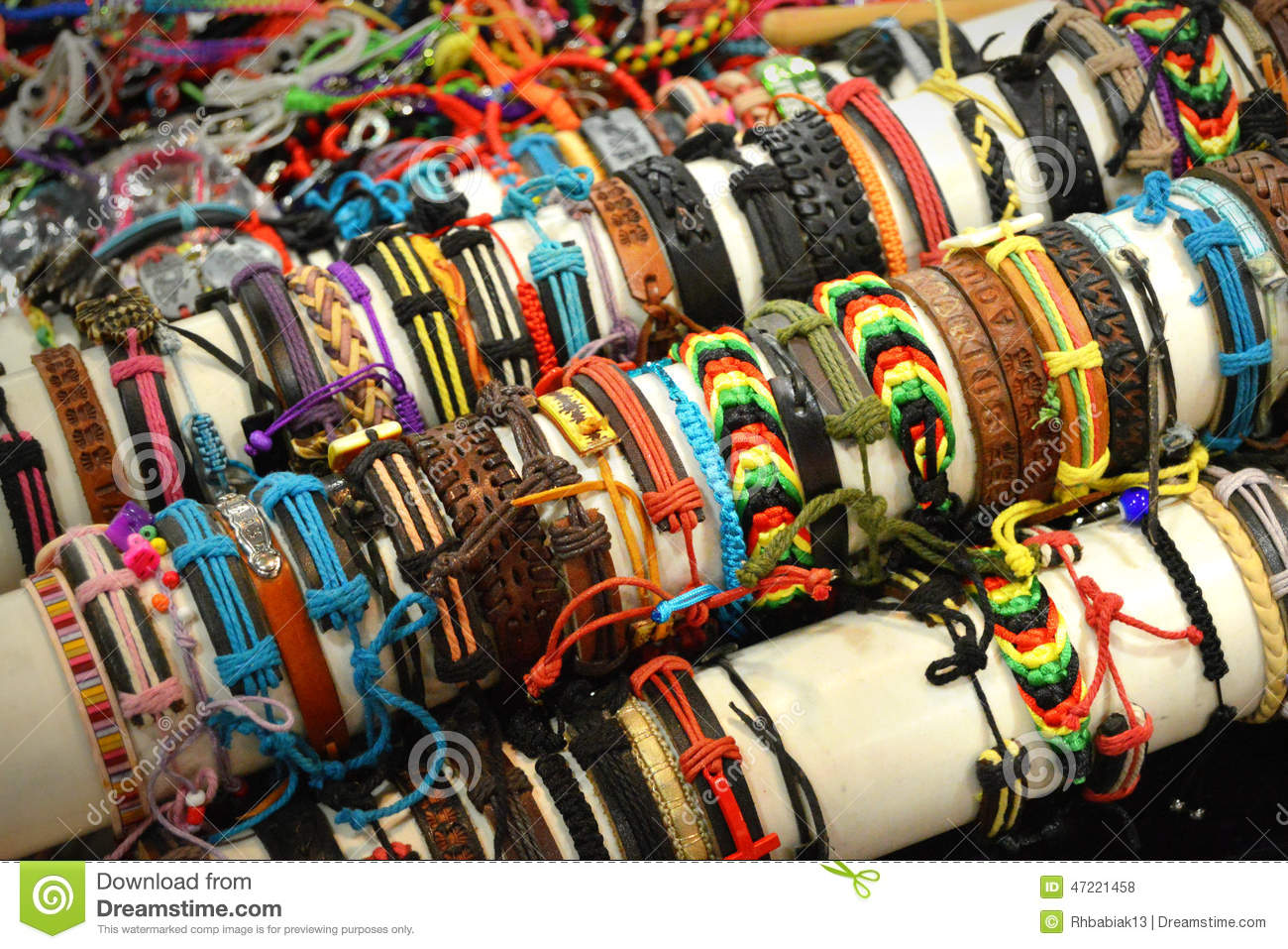 Bracelets stock photo image of bracelets rope colors for Craft fairs milwaukee wi