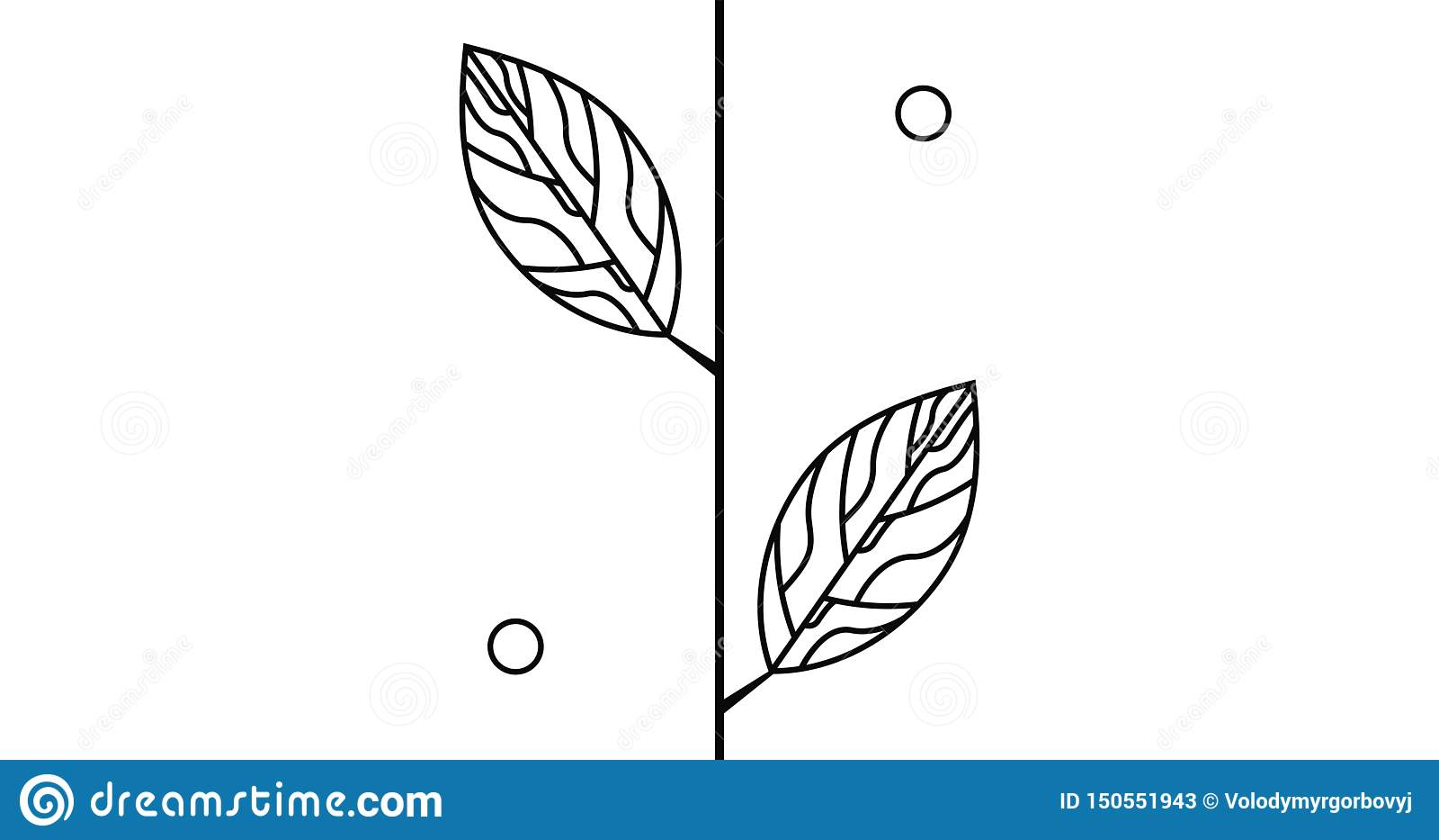 Brach с листьями и логотипом конспекта круга
