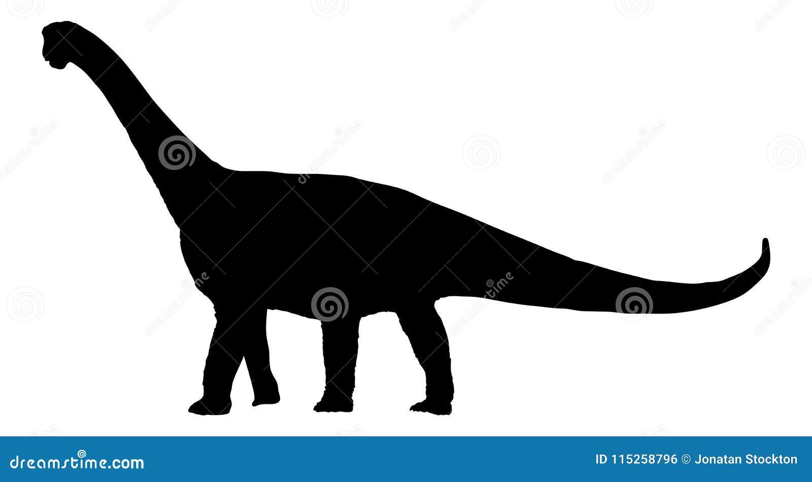 Brachiosaurus del dinosauro; brontosauro; siluetta del diplodocus