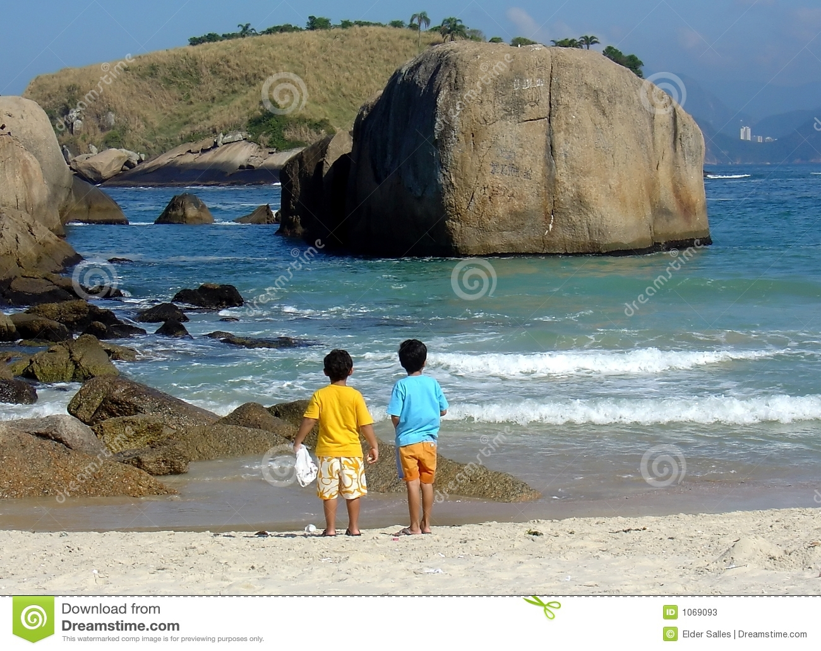 Bracie kontemplacja plażowa