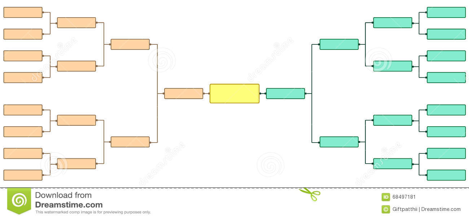 Bracket Tournament 16 Stock Vector Illustration Of Great 68497181
