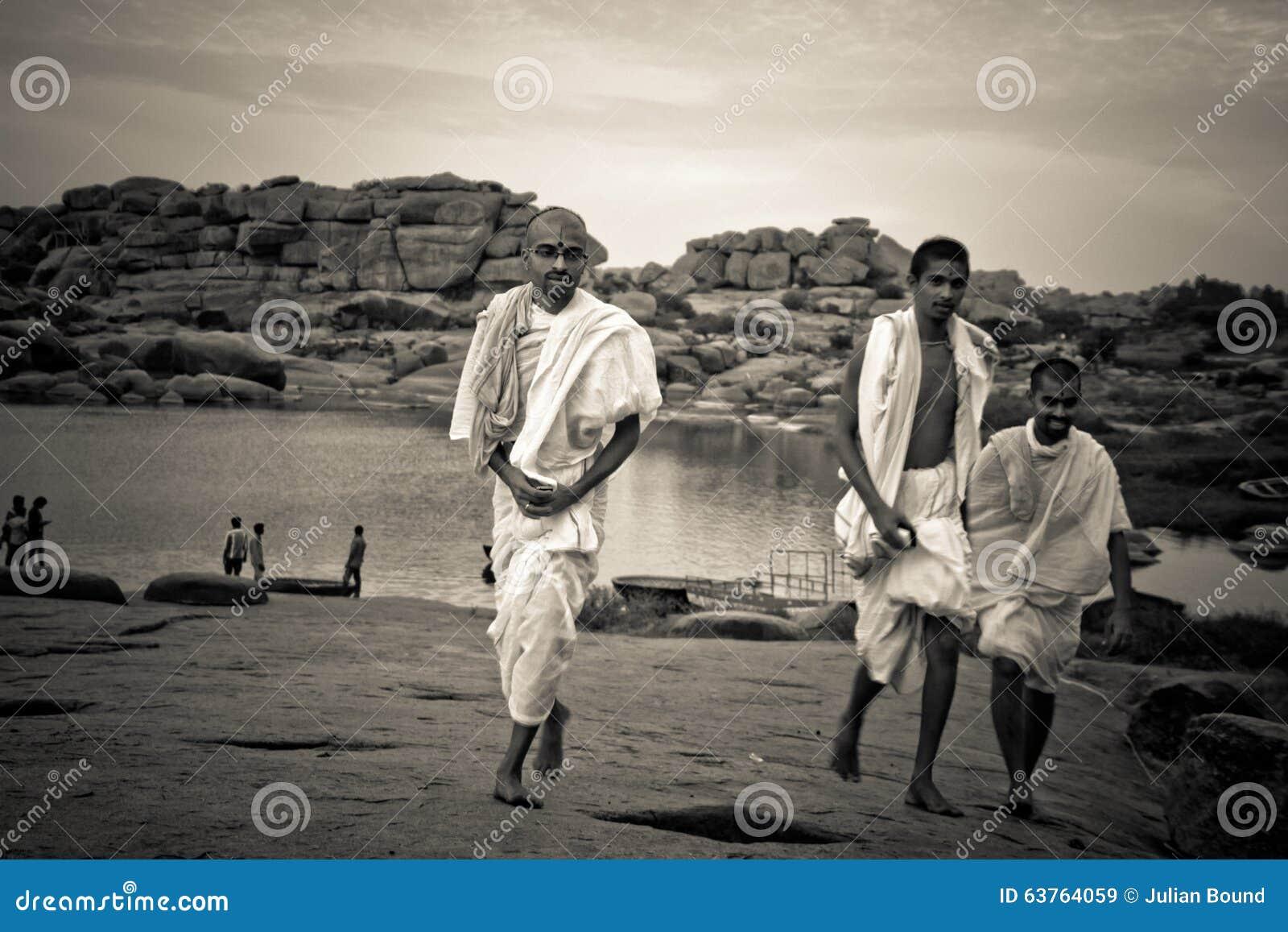 Brahman- Priester von Hampi, Karnataka, Indien