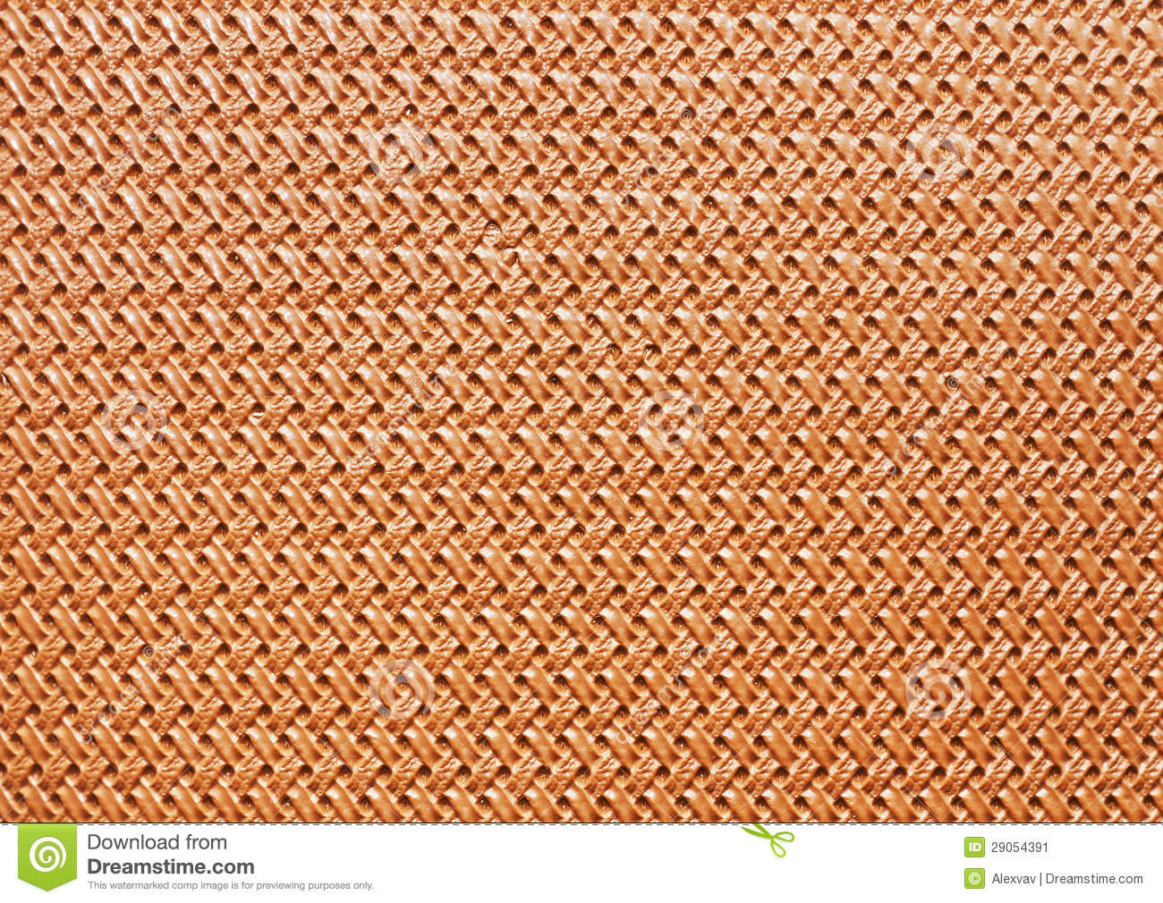 Braided beige leather texture close-up horisontal orientation.