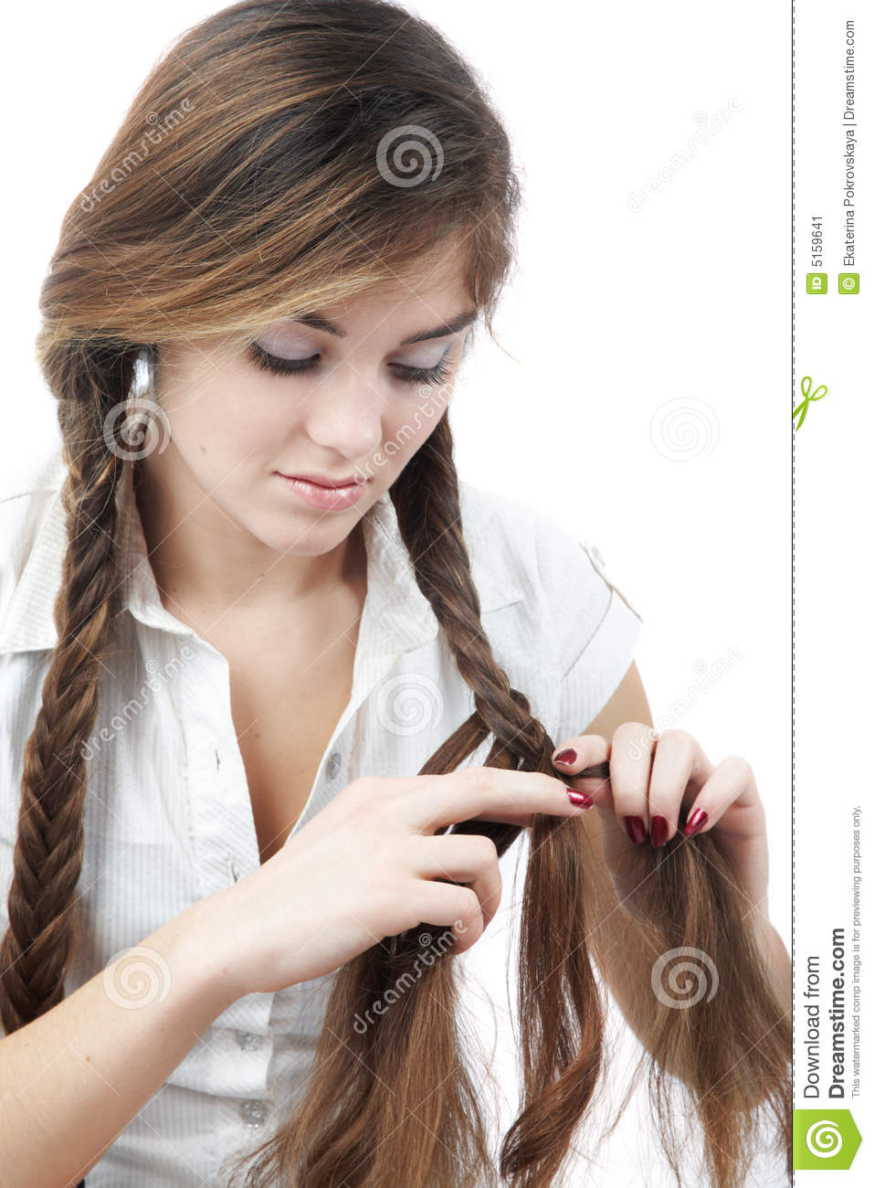 Braiding Hair Stock Image Image 5159641