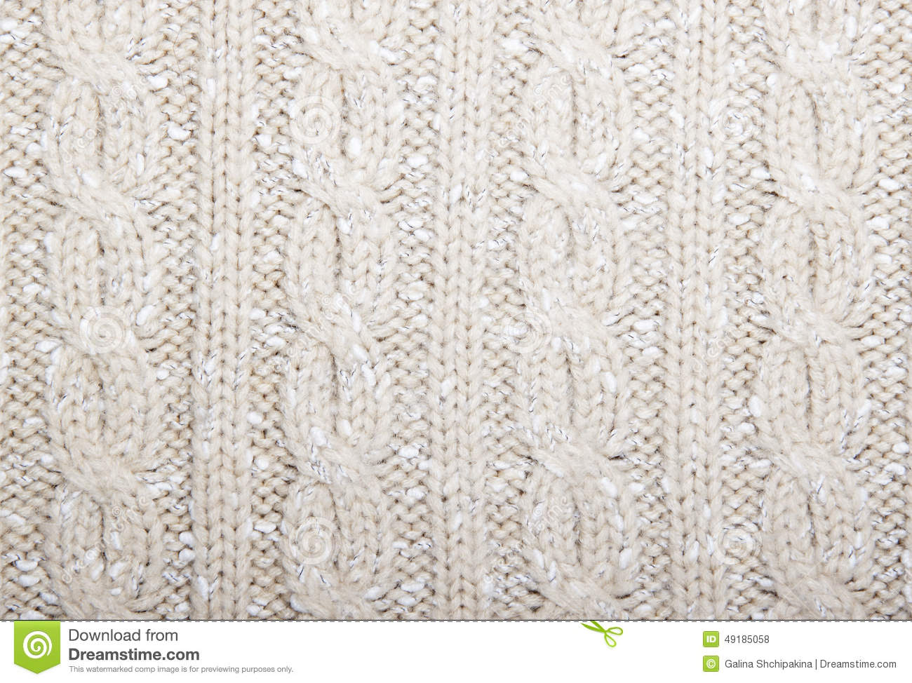 Braids Pattern Knit Beige Color . Stock Photo - Image of white, knit ...