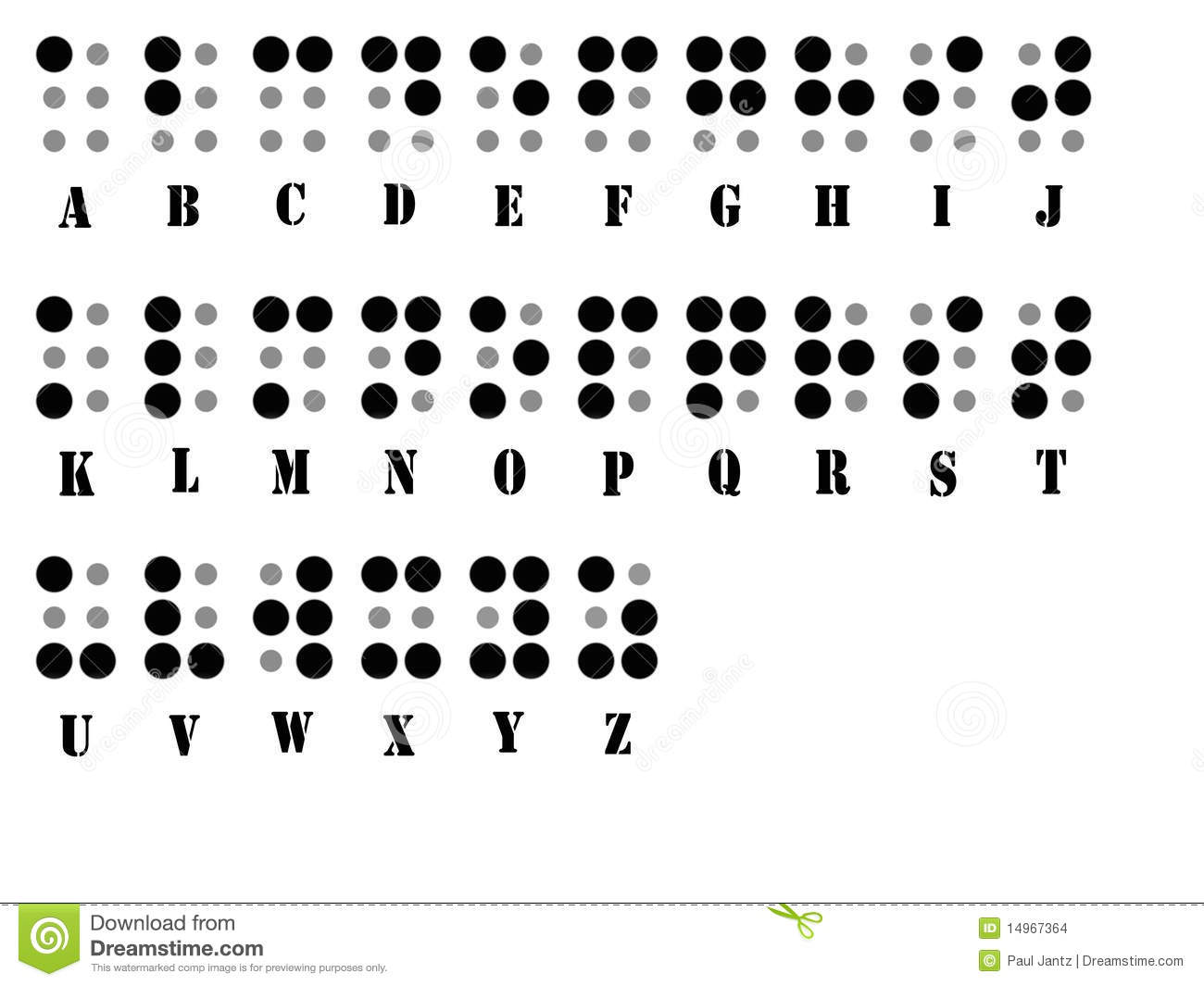 braille alphabet system stock images