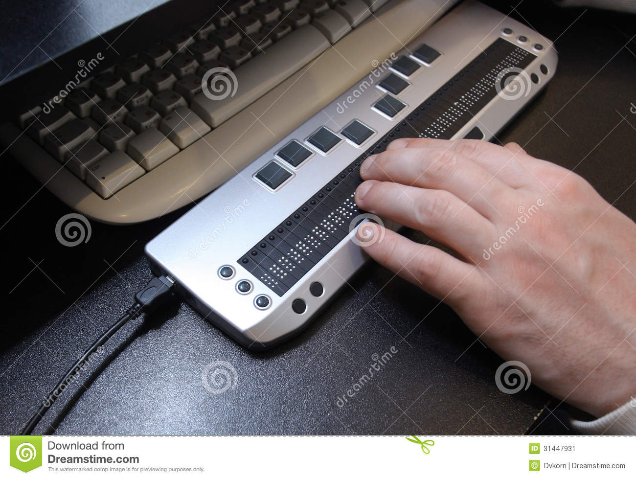 Braille Keyboard Stock Image Image Of Disabled Braille