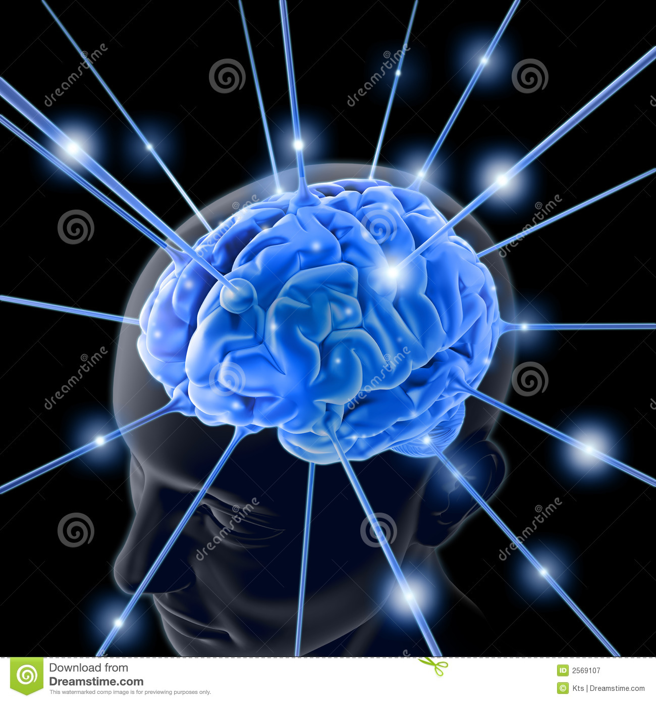 The brain is being energized through the strings. The concept of ...