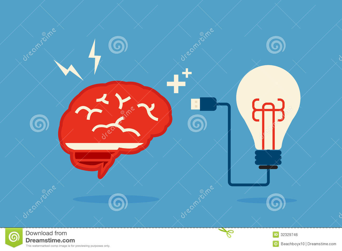 brain and bulb idea royalty free stock image - Idea Design