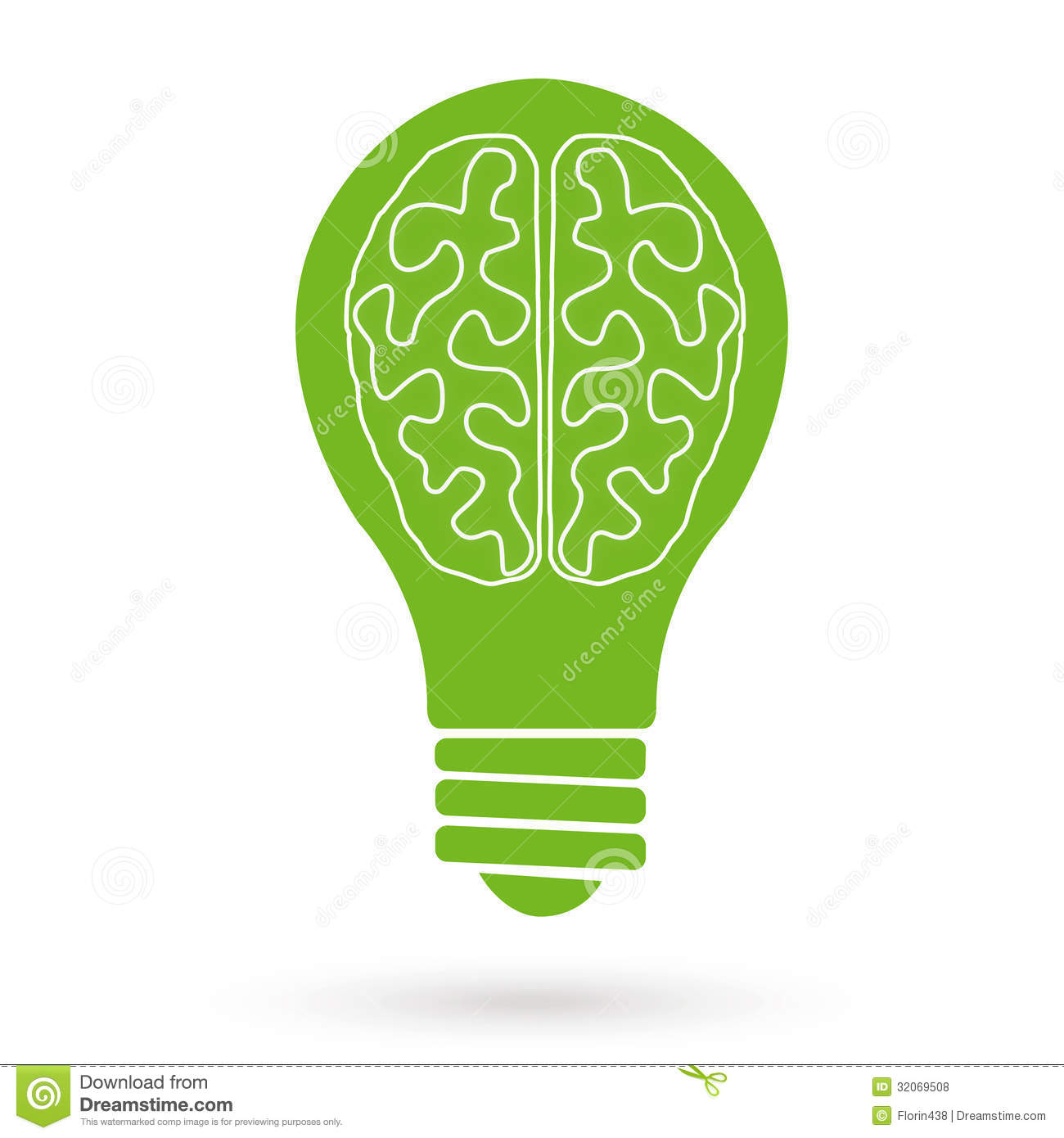 Brain Bulb Royalty Free Stock Photos - Image: 32069508