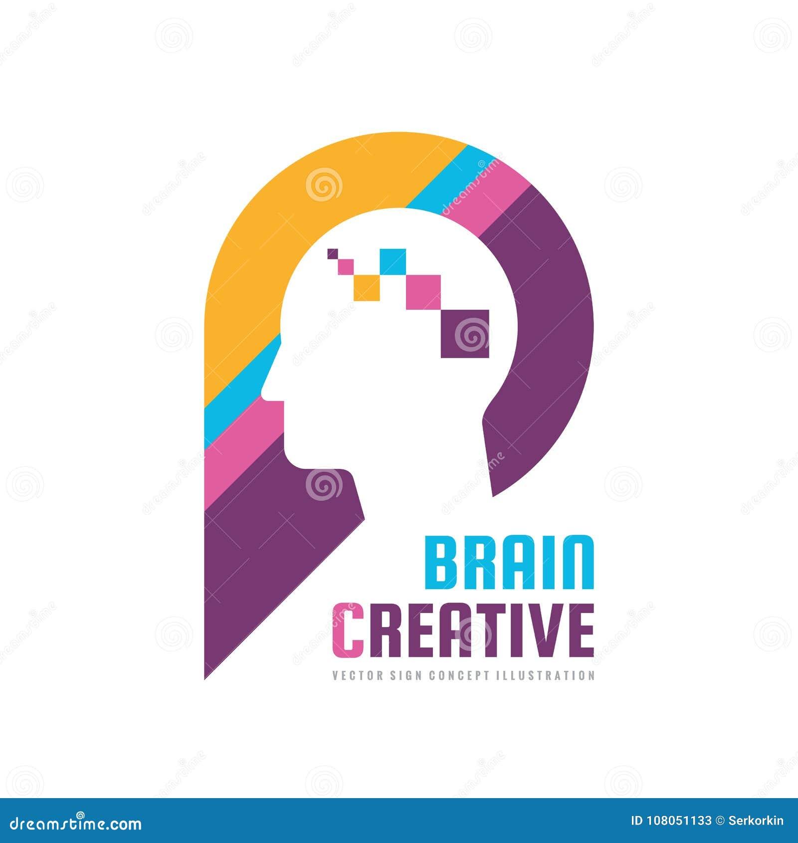 Brain Creative - Concept Logo Template Vector Illustration