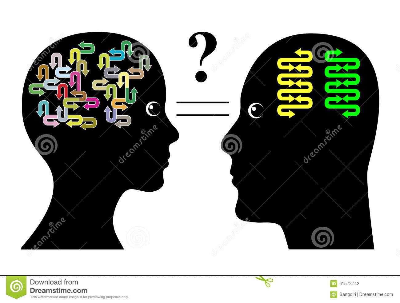 Brain Differences Stock Illustration - Image: 61572742