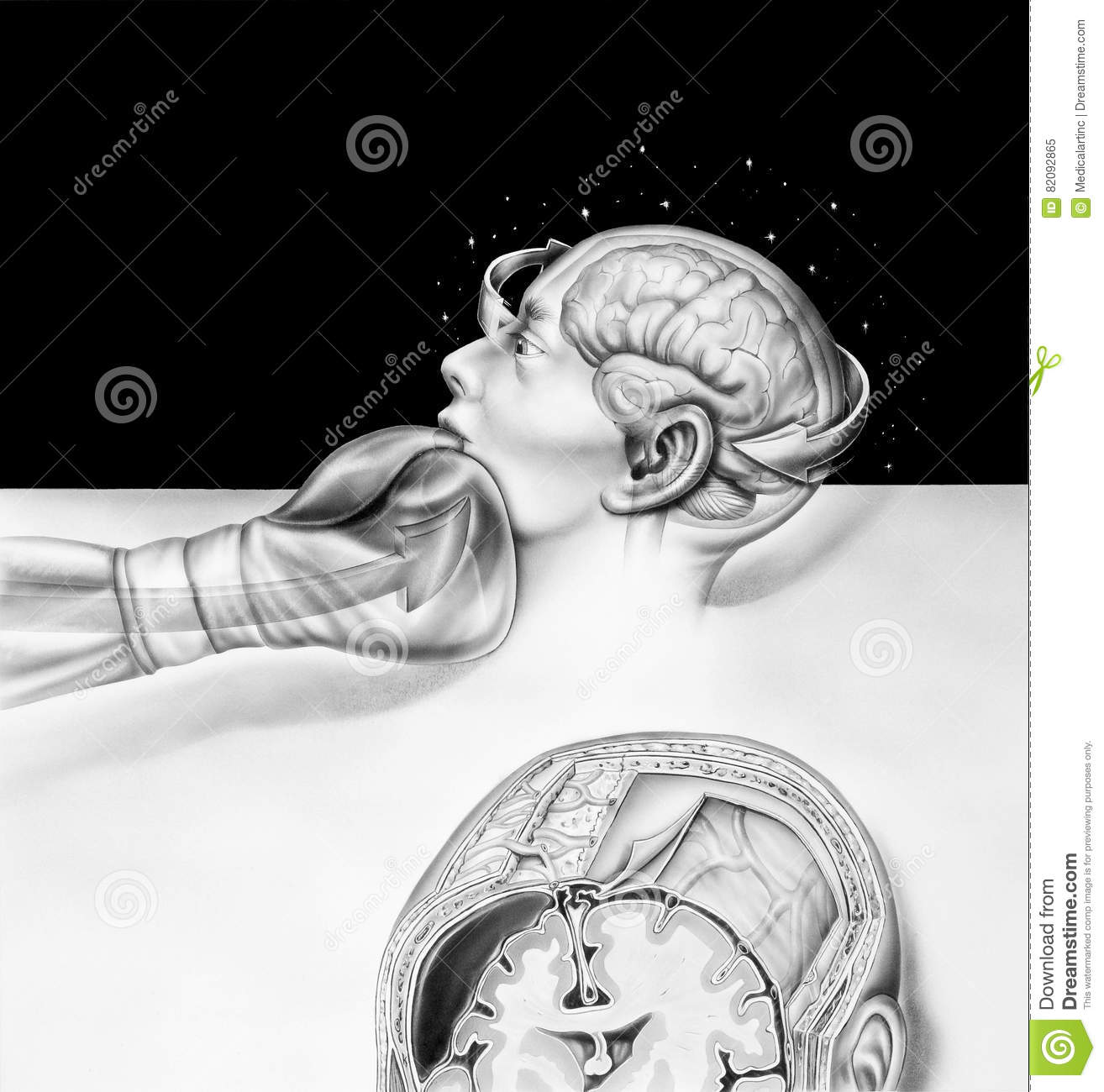 Brain the effects of boxing illustration 82092865 megapixl brain the effects of boxing ccuart Gallery