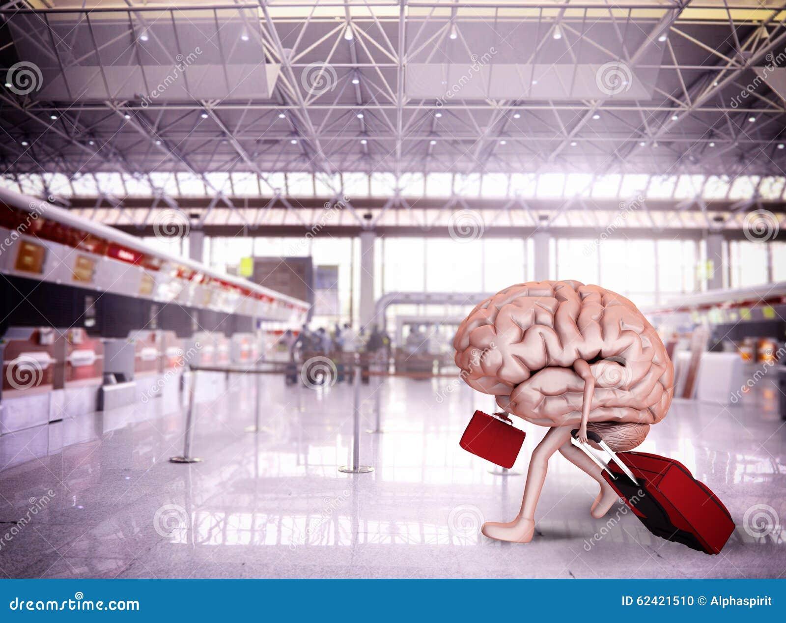brain escape stock photo