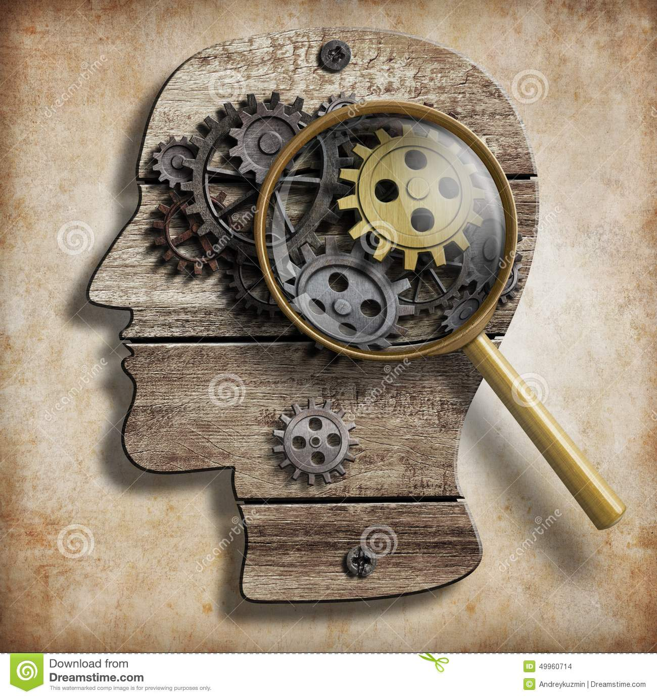 Brain Gears And Cogs. ...