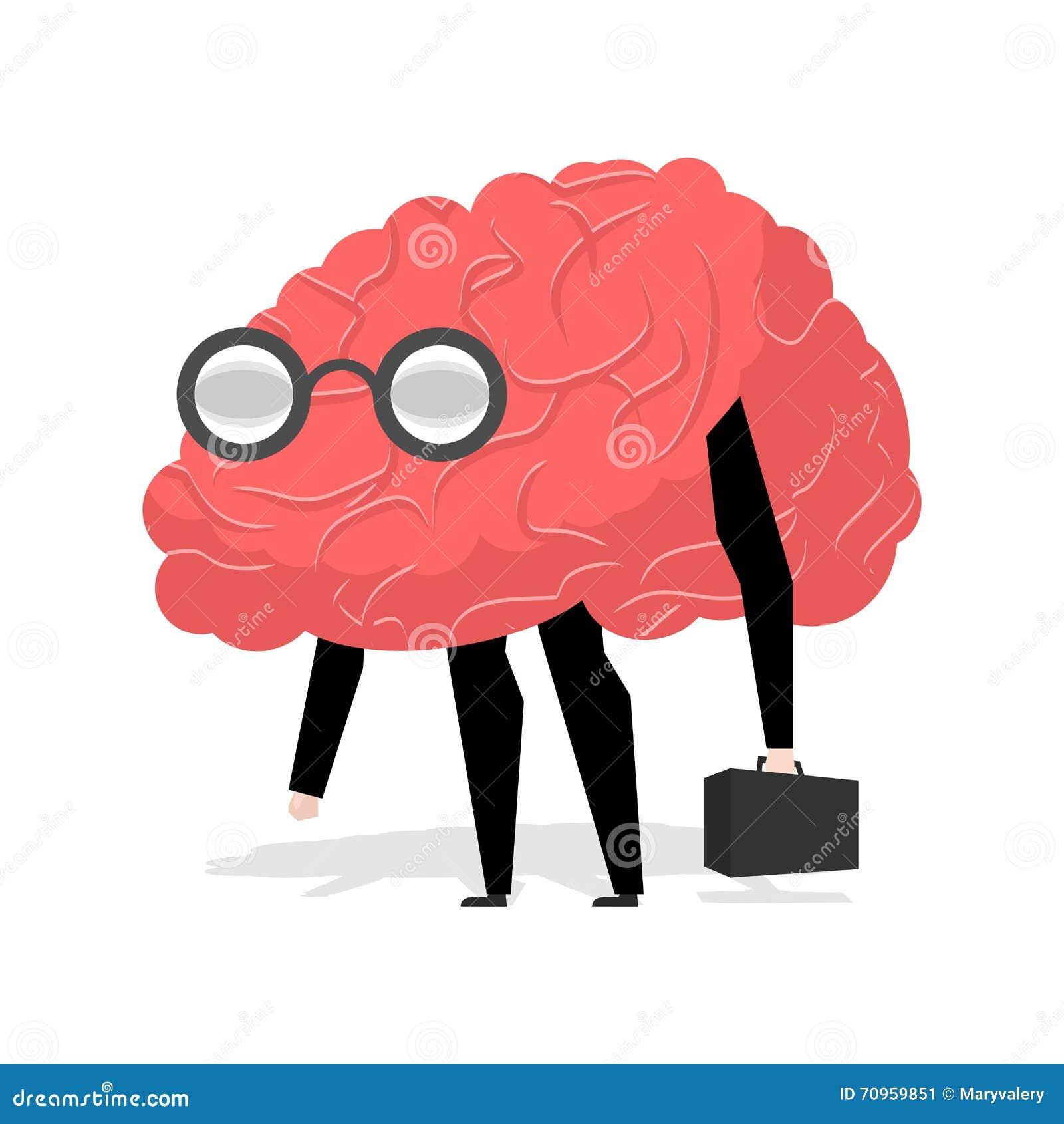 Cute Cartoon Smart Brain Cartoondealer Com 86062941