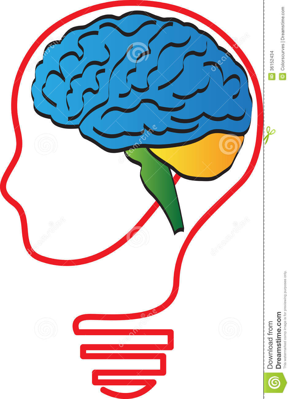 vector drawing represents brain head design.