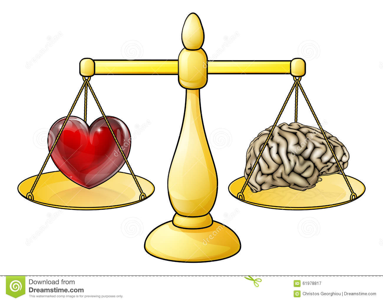 brain heart scales concept stock vector image 61978817 balance scale clip art funny legal balance scale clipart