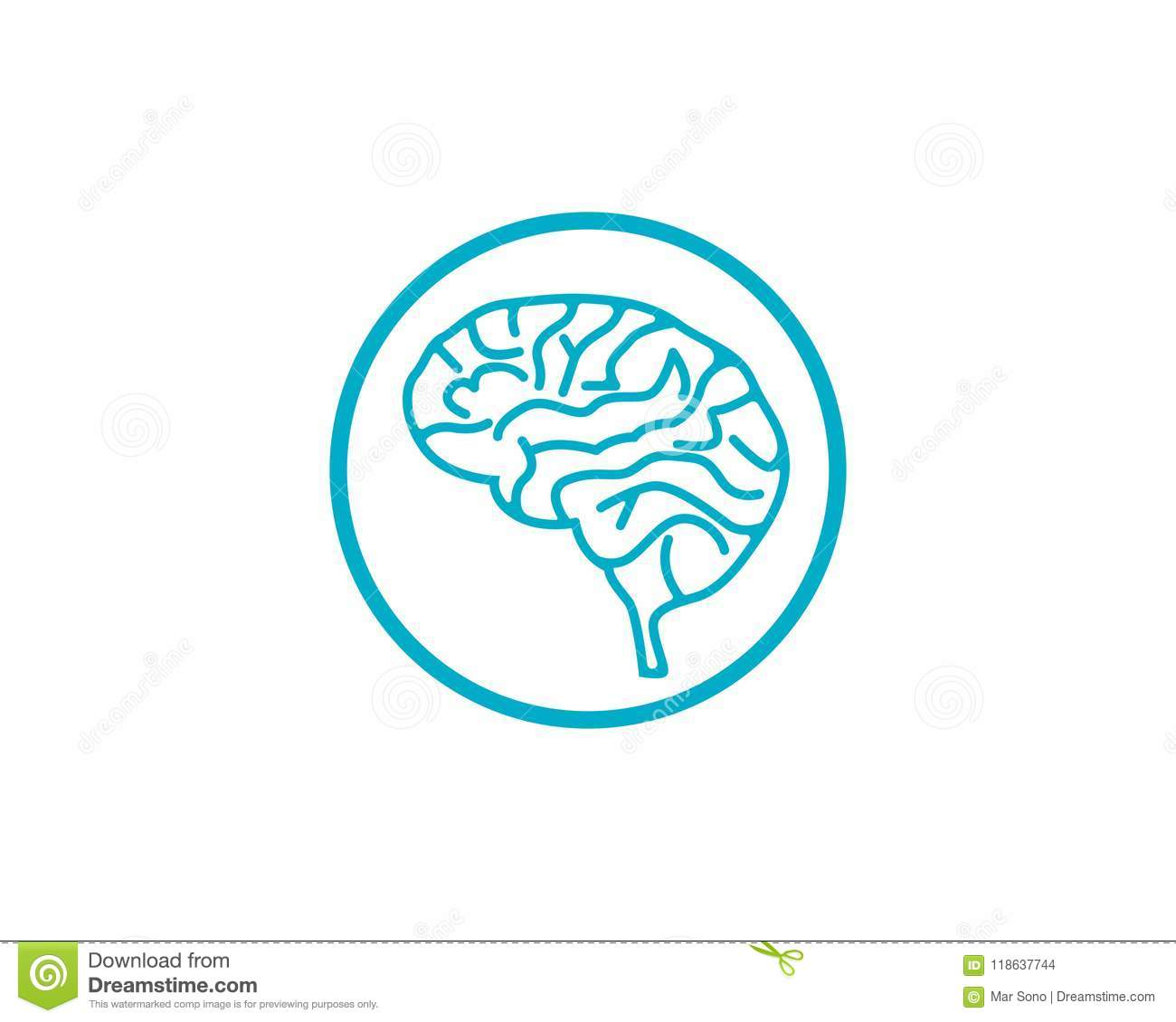 Brain Logo Template Symbols Icons App Stock Vector - Illustration of ...