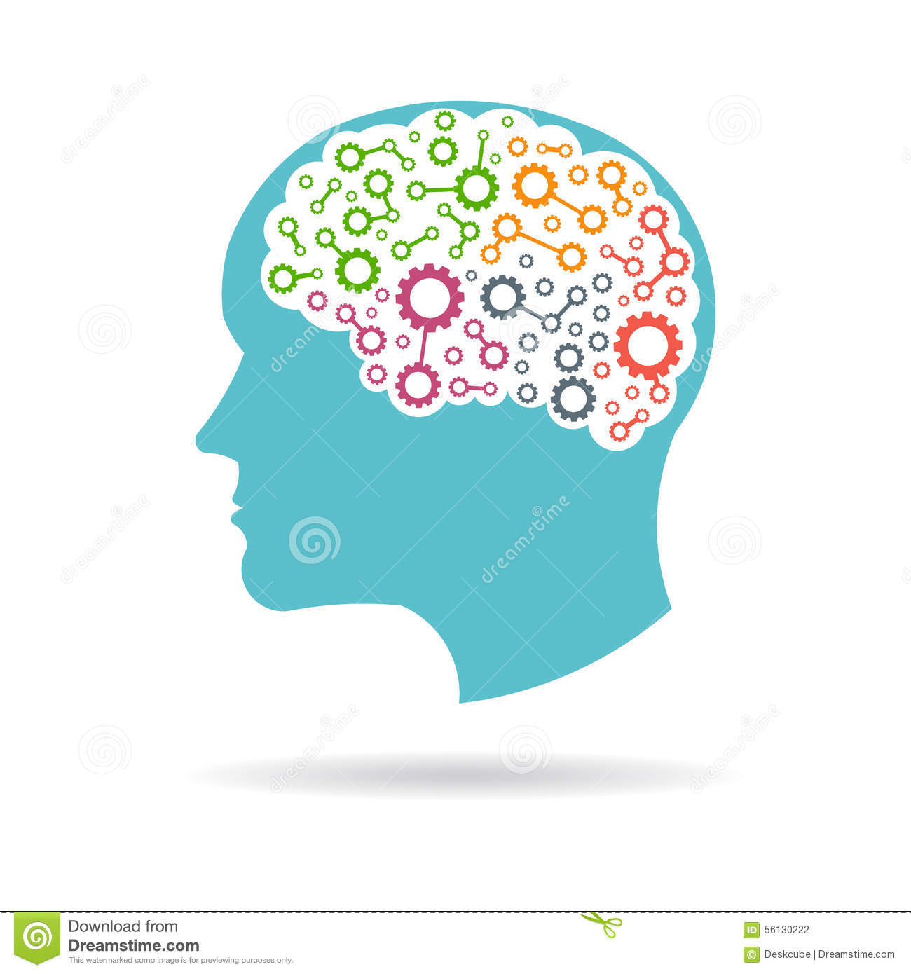 brain head networking lobes logo stock vector image