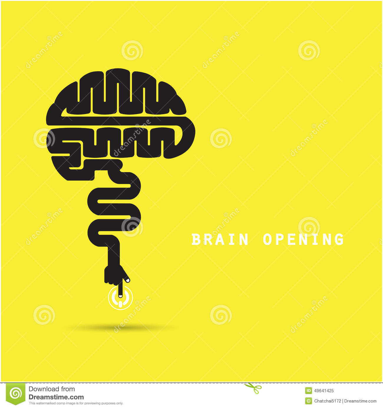 Brain Opening Concept.Creative Brain Abstract Vector Logo ...