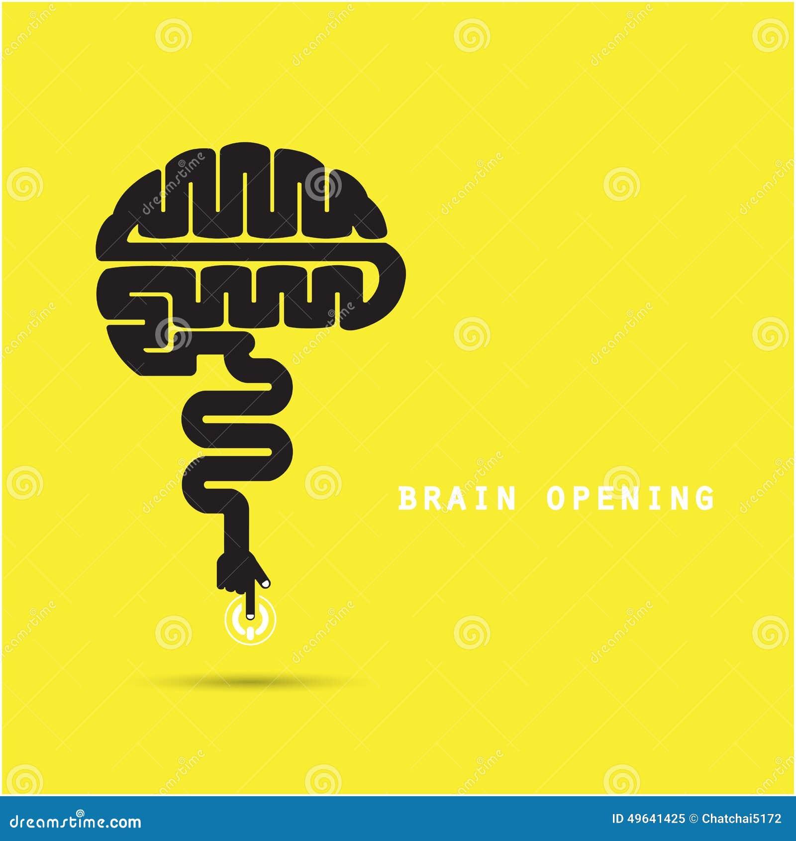 Brain Opening Concept.Creative Brain Abstract Vector Logo ...