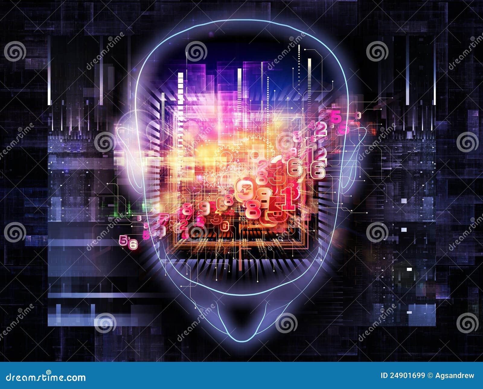 brain power stock illustration  image of graphic  chip