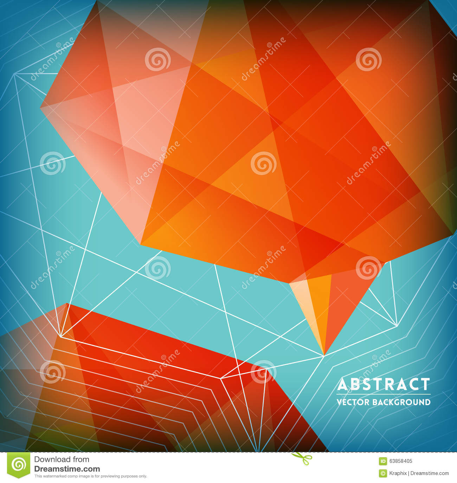 Brain Shape Background poligonal bajo abstracto