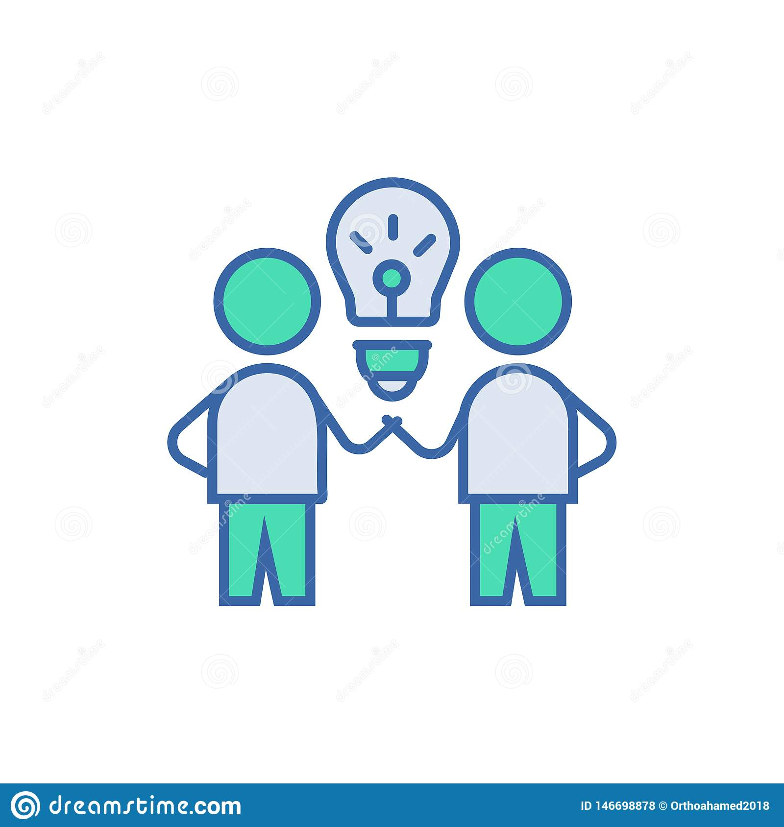 Brain Storm Icon vectorregeling en Diagramsymbool vlak Brain Storm-pictogram
