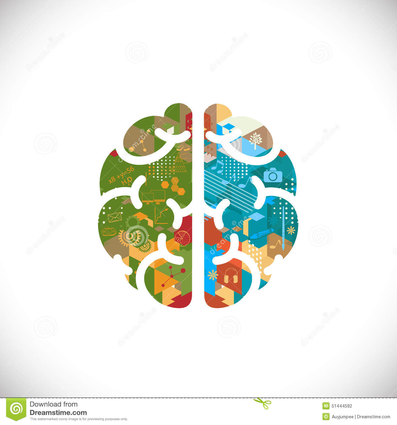Brain symbol with colorful geometric and graphic concept isolated brain symbol with colorful geometric and graphic concept isolated white background vector illustration biocorpaavc Images