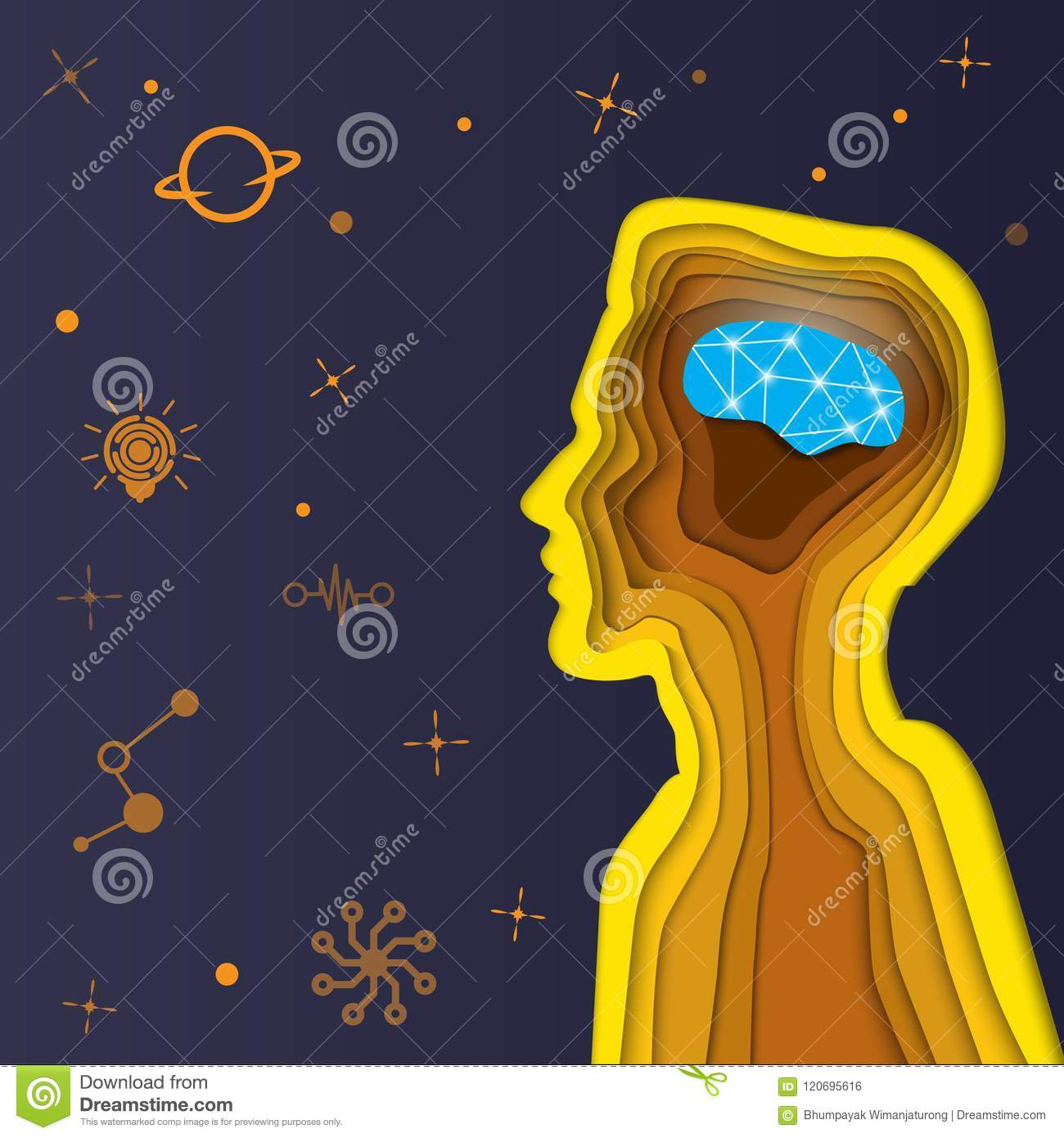 Circuit Board Computer Style Brain Vector Technology Blue Background Cutter Images Of