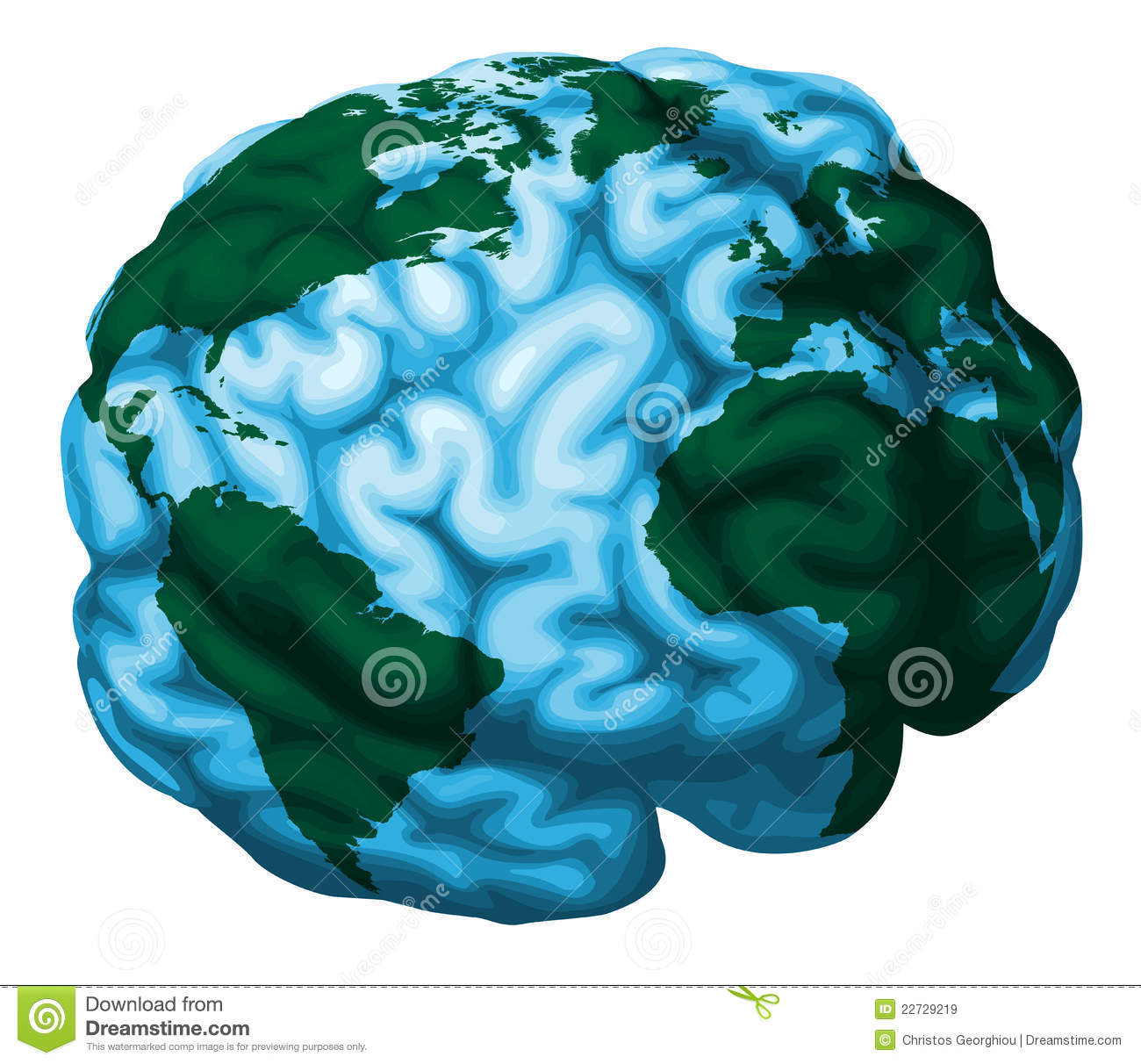 Brain World Globe Illustration Royalty Free Stock Images ...