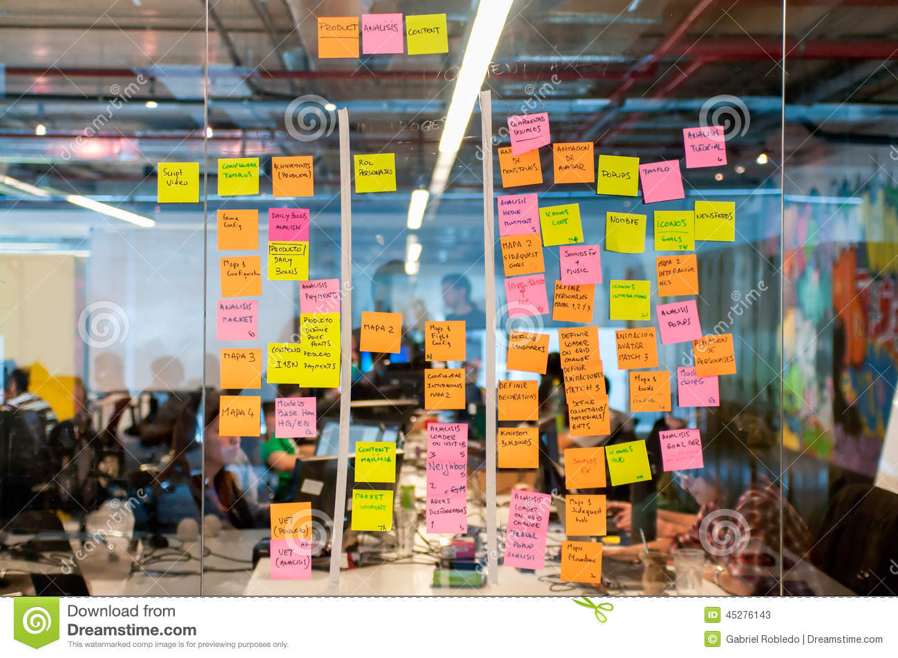 Brainstorm Board Post It Editorial Stock Photo Image Of