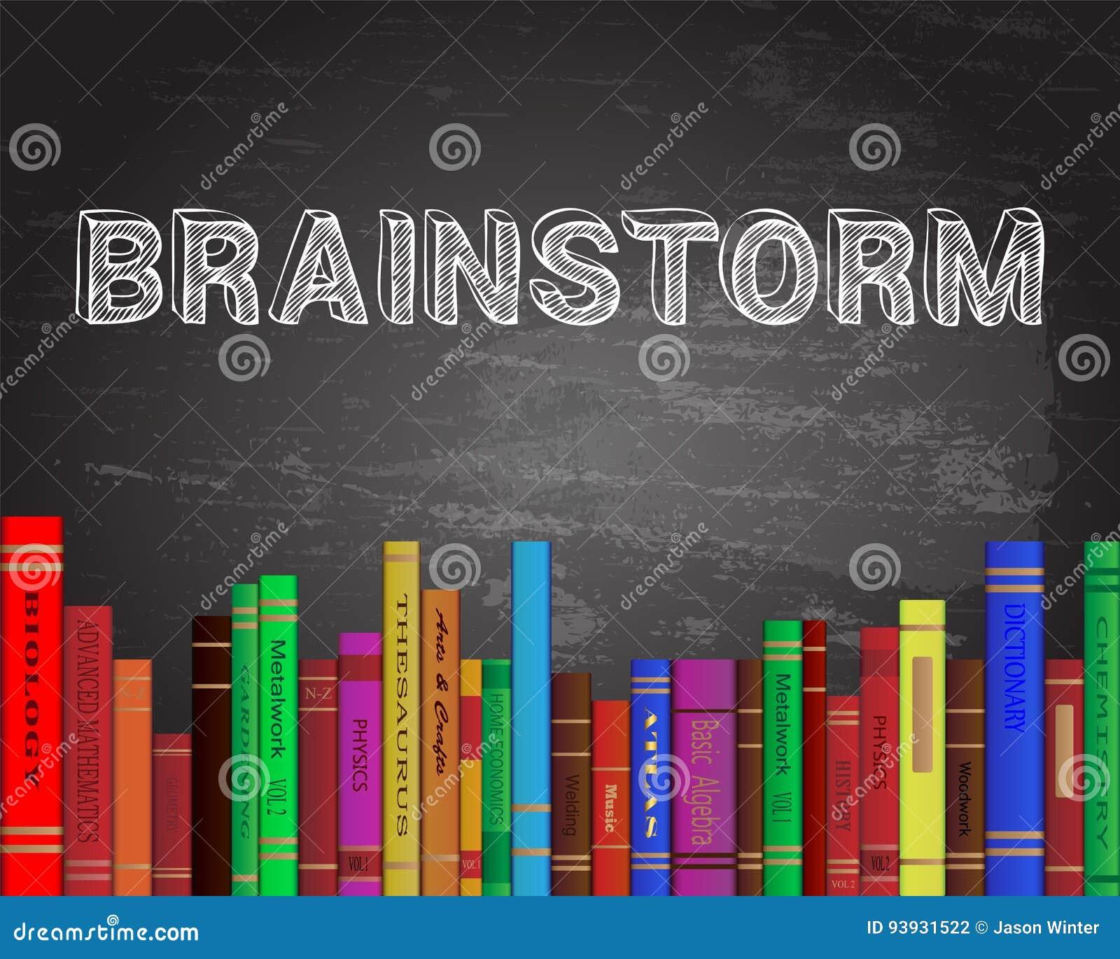 Brainstorm Books Blackboard Stock Vector - Illustration of learn