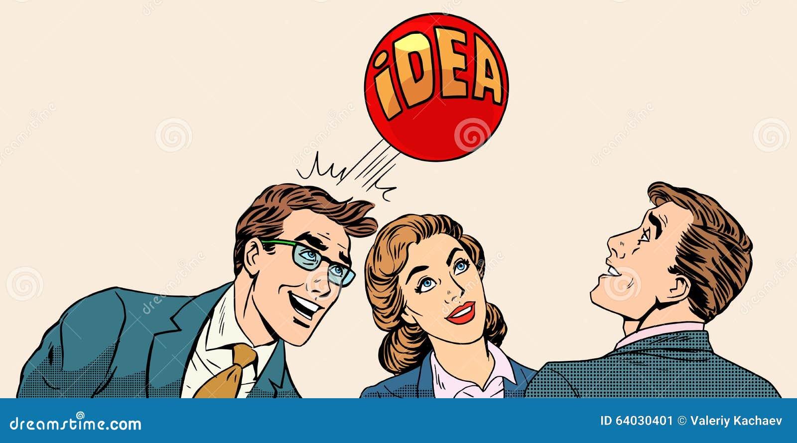Brainstorming biznesu drużyny pojęcie rozwijać