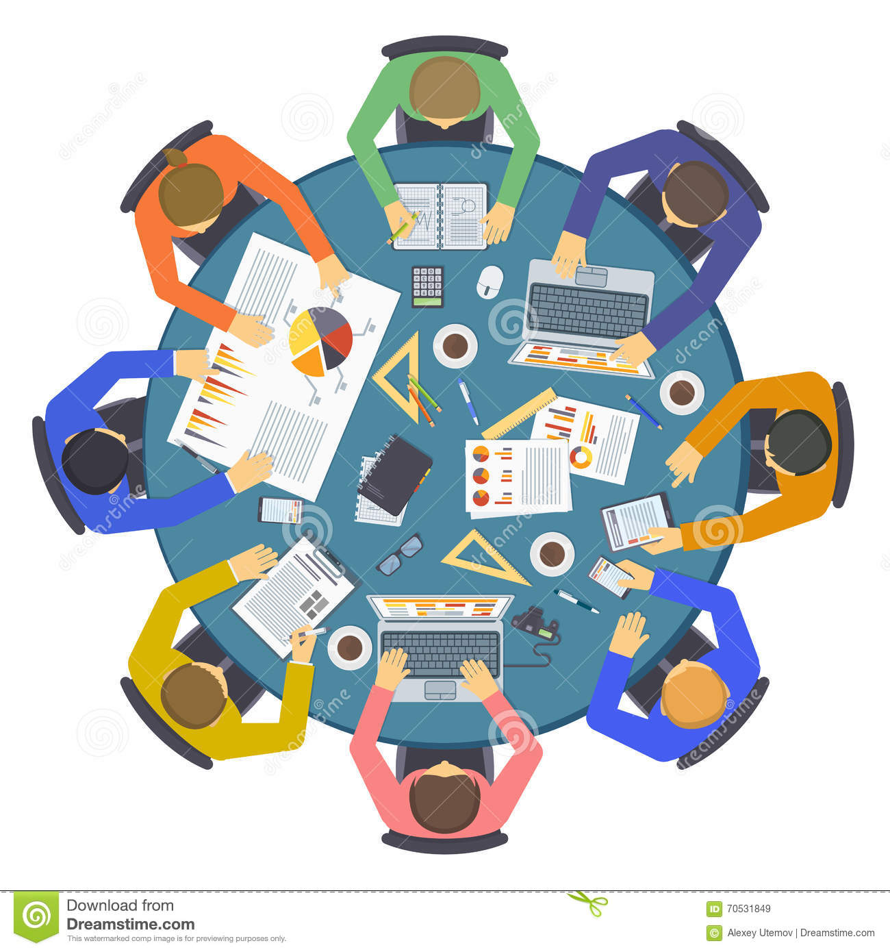 brainstorming creative team idea discussion people flat directory clip art free director clipart